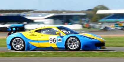 2014. Team Ukraine racing with Ferrari в Британии